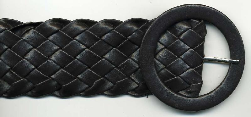 "40"" Length x 2"" Width Faux Leather Braided Belt Brown<br>$0.50 each, see Special Pricing Tab"