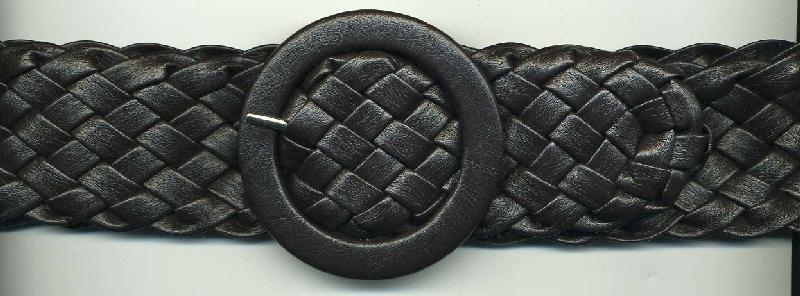 "38"" Length x 2"" Width Faux Leather Braided Belt Black (On Sale, $0.50 each!)"