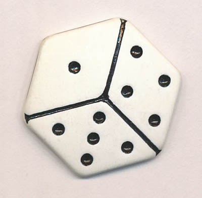 40L Dice Shank Button-White/Black