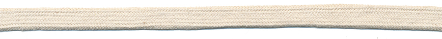 "3/8"" Flat Cotton Sleeving Cord-Natural"