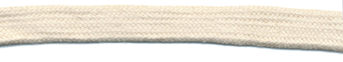 "7/16"" Flat Cotton Sleeving Cord-Natural"