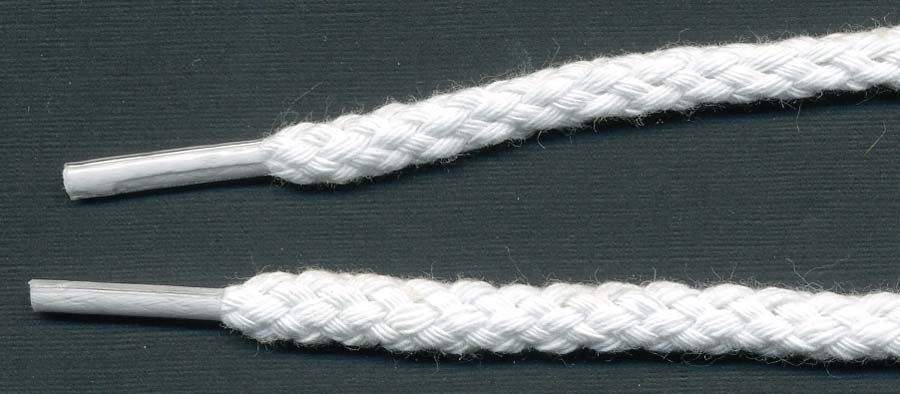 "42"" Tipped Cotton Drawcord-White"