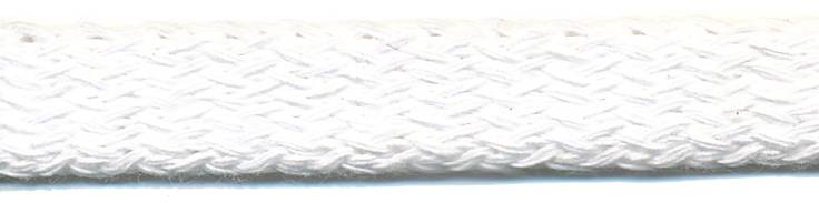 "7/16"" Cotton Knit Flat Sleeving Cord-White (Dyeable)"