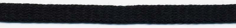 "7/16"" Cotton Knit Flat Sleeving Black"