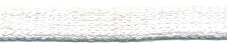 "3/8"" Cotton Knit Flat Sleeve-White"