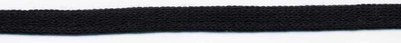 "3/8"" Cotton Knit Flat Sleeving Black"