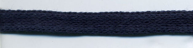 "3/8"" Cotton Knit Flat Sleeving Cord-Navy"