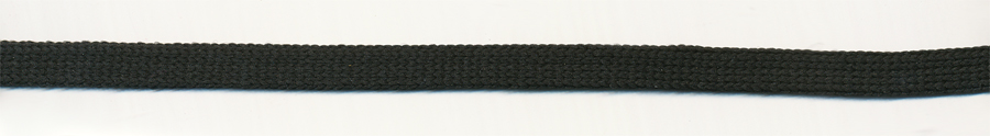 "3/8"" Poly Knit Flat Sleeving Cord-Black"