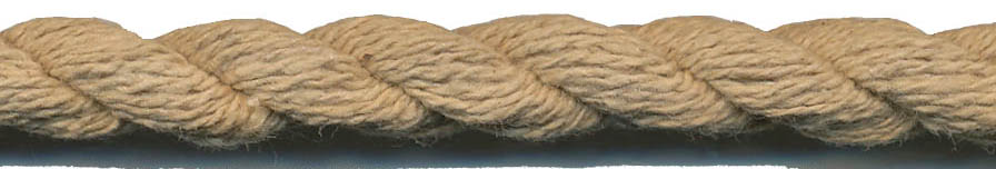 "7/16"" 2-ply 30x2 Cotton Cable Cord-Toffee"