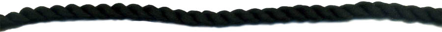"5/16"" 2-ply Polyester Cable Cord-Black"