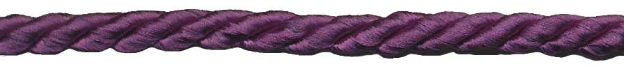 "3/16"" 3-ply 8x3 Rayon Cable Cord-Purple"