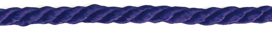 "3/16"" 3-ply 8x3 Rayon Cable Cord-Regal Purple"