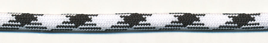 "Striped ""Spider Flow"" Tubular Cord-White/Black"