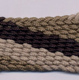 "1.5"" Flat Woven Braid-Taupe/Brown"