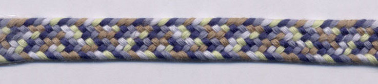 "3/8"" Flat Woven Braid-Blue/Brown/Charcoal"
