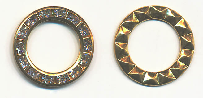 22mm Inlaid Rhinestone Ring-Gold/Crystal Combo