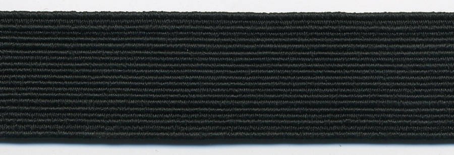 "<font color=""red"">IN STOCK</font><br>1/8"" Poly Braid Flat Elastic-BLK<br>Superior Quality"