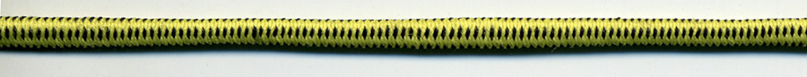 "1/8"" Tubular Bungee Elastic Cord-Yellow/Dark Navy"