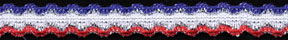 "7/16"" Double Wave Patriot Elastic-Red/White/Blue Combo<br>$0.01 per yard, see Special Pricing Tab"