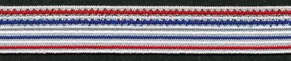 "5/8"" Metallic Foldover Patriot Elastic-Red/White/Blue Combo<br>$0.02 per yard, see Special Pricing Tab"