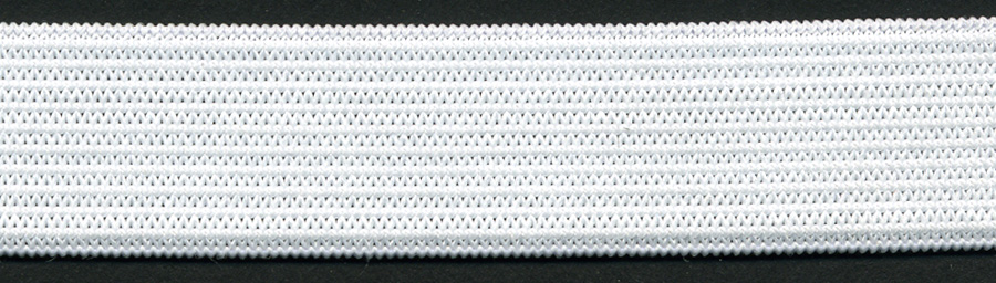 "<font color=""red"">IN STOCK</font><br>1/8"" Poly Knit Elastic-White<br>(Soft, Standard)"