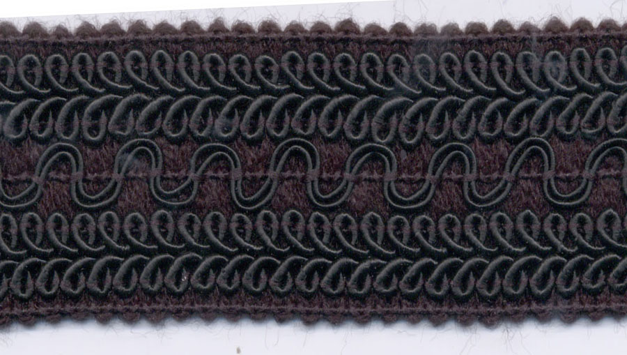 "1.5"" Knitted Loop Pasimentry Elastic-Black"