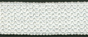 "1.5"" Knitted Wave Rayon/Cotton Elastic-White"