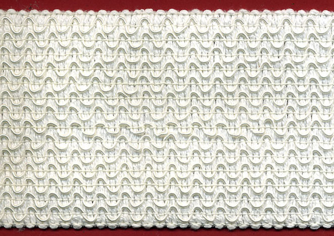 "3"" Knitted Wave Rayon/Cotton Passimentry-White"