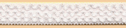"9/16"" Nylon Triple Rope Plush Back Elatic-White"