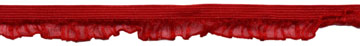 "9/16"" Nylon Abutilon Elastic-Deep Red"
