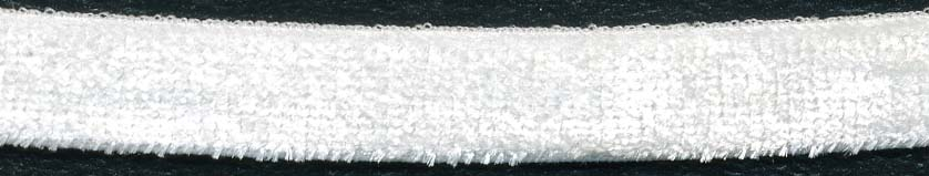 "3/8"" Nylon Stretch Velour Elastic-White"
