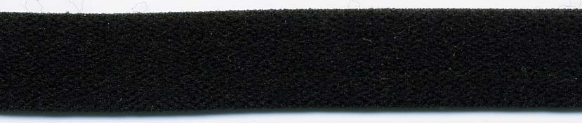 "3/8"" Nylon Stretch Velour Elastic-Black"
