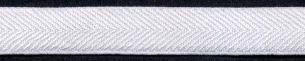 "1/2"" Nylon Stretch Twill Elastic-Raw White"