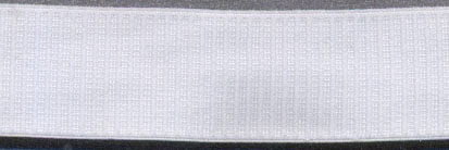 "3/4"" Nylon Stretch Grosgrain Elastic-White"
