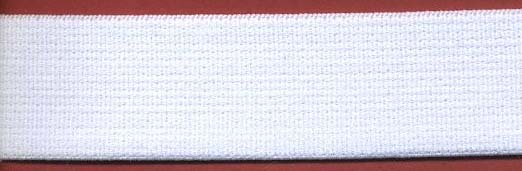 "1"" Nylon Double Face Soft Elastic-White"