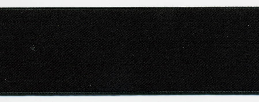 "1.38"" Nylon Plush Elastic-Black"