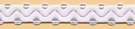 "9/16"" Nylon Wave Rave Elastic-White"