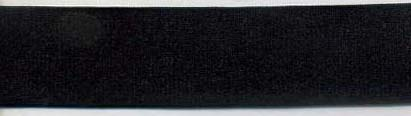 "1"" Nylon Satin Plush Back Elastic-Black"
