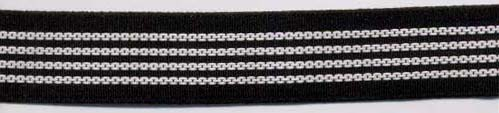 "1"" Poly Gripper Elastic-Black/White Combo"