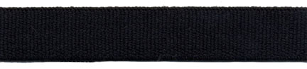 "1"" Poly Poly Terry Elastic-Black"