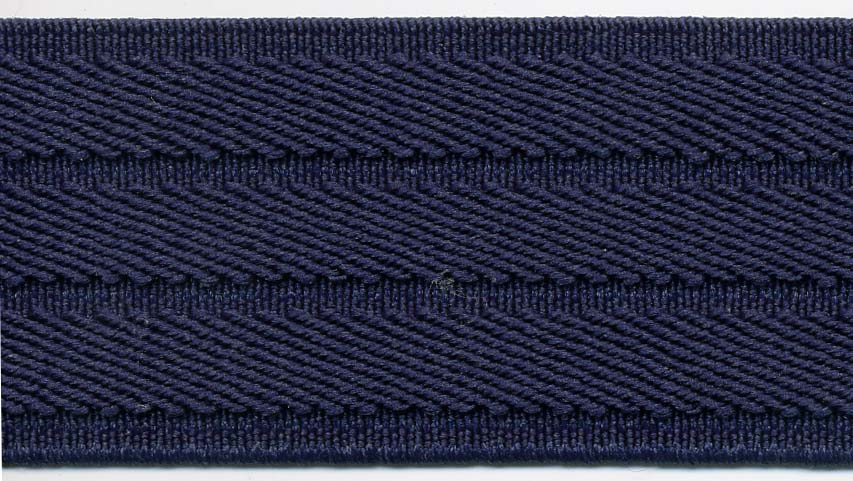 "1.5"" Poly Triple Row Angle Elastic-Navy"