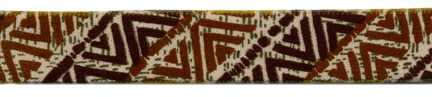 "1"" Poly Plush Elastic-Brown Aztec Print"