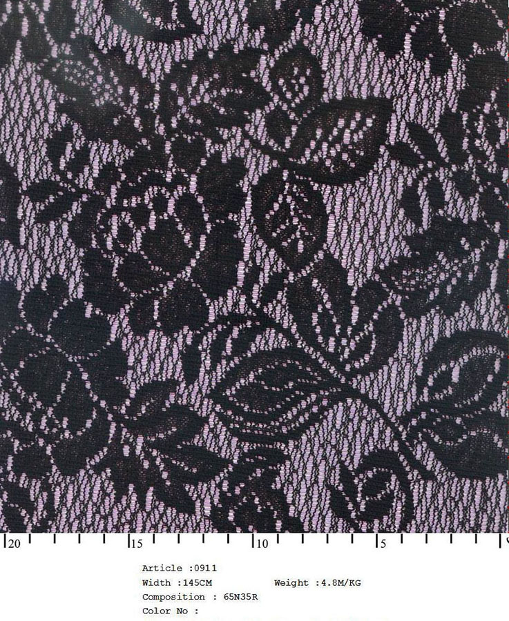 "58/60"" Embroidered Floral All-over Fabric on Net-Grape"