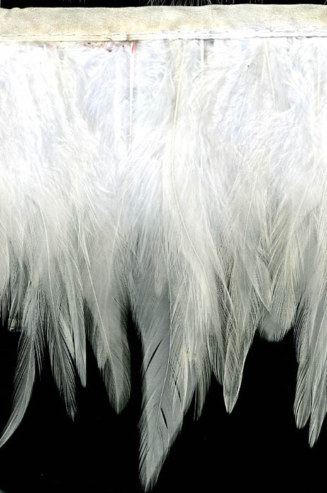 "3.5"" Feather Fringe-White With White Ribbon"