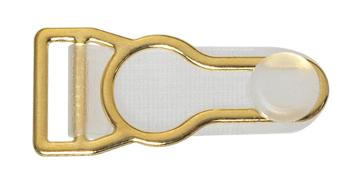 12mm Alloy Garter Clip with Clear Tongue-Gold