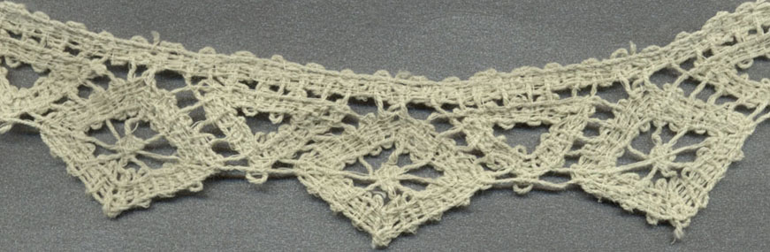 "1"" Cotton Cluny Diamond Lace-Hemp"