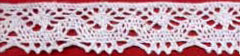 "3/4"" Cotton Cluny Edge Lace-White"