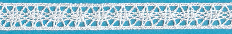 "1/4"" Cotton Cluny Galloon Lace-White"