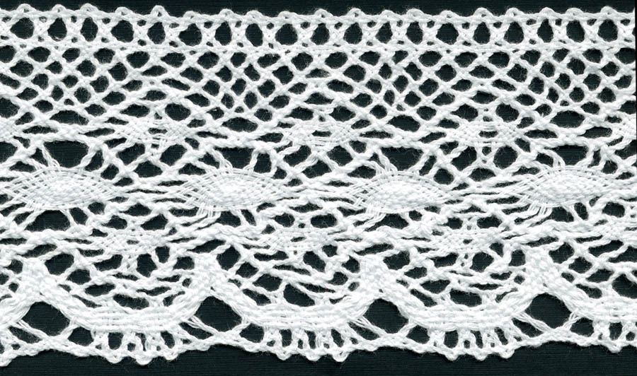 "3.75"" Cotton Cluny Edge Lace-White"