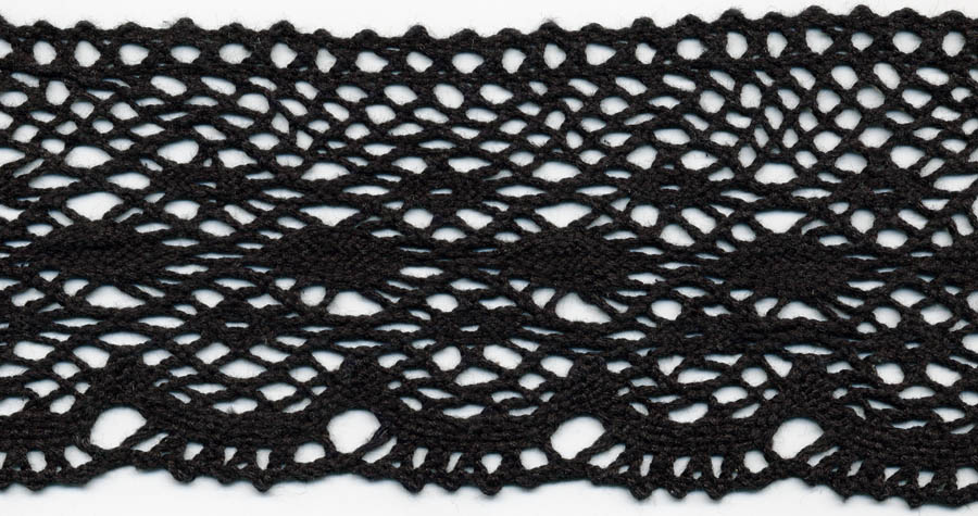 "3.75"" Cotton Cluny Edge Lace-Black"